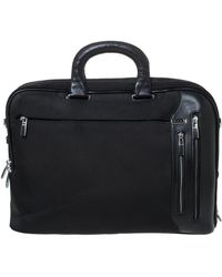 Tumi Black Nylon And Leather T-pass Kennedy Deluxe Brief Laptop Bag