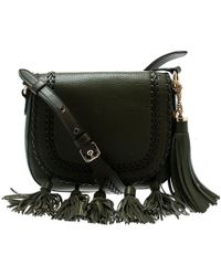 b9eb9c7eb75e Michael Kors - Olive Green Leather Moroccan Saddle Messenger Bag - Lyst