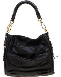Dior Black Pleated Leather Libertine Hobo