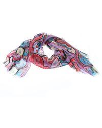 Etro Multicolour Paisley Print Silk Fringed Scarf