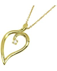Tiffany & Co. Heart Leaf 18k Yellow Gold Necklace - Metallic