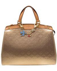 Louis Vuitton Beige Poudre Monogram Vernis Brea Gm Bag - Natural