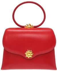 Hermès Red Leather Vintage Ilio Top Handle Bag