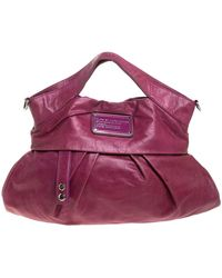 Marc By Marc Jacobs Fuchsia Leather Top Handle Bag - Pink