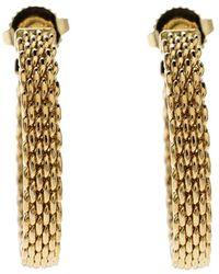 Tiffany & Co. - Somerset Mesh Woven 18k Yellow Gold Hoop Earrings - Lyst