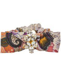 Etro Multicolour Paisley Print Crepe Scrunchie