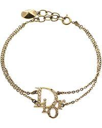 Dior - Oblique Crystal Tone Bracelet 20 Cm - Lyst