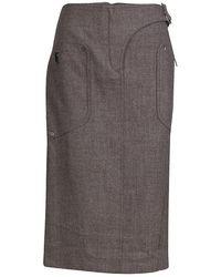 Dior - Buckle Detail Tweed Skirt M - Lyst