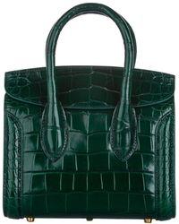 Alexander McQueen Green Embossed Leather Heroine 21 Bag