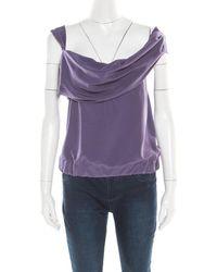 Vivienne Westwood Red Label Purple Draped Sleeveless Top