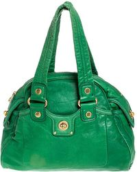 Marc By Marc Jacobs Marc By Marc Jacob Green Leather Front Turnlock Satchel