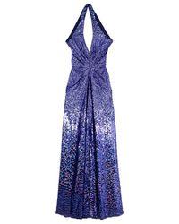 Jenny Packham Blue Embellished Gown