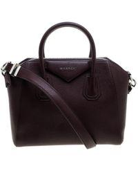 Givenchy Burgundy Leather Small Antigona Satchel - Multicolour