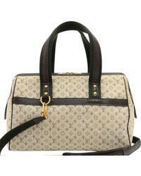 Louis Vuitton Khaki Monogram Mini Lin Josephine Gm Bag - Natural