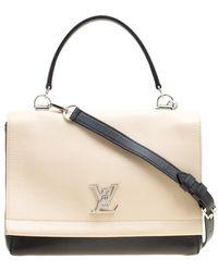 Louis Vuitton - /beige Leather Lockme Ii Bag - Lyst