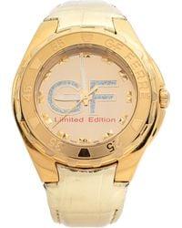 Gianfranco Ferré Gold Tone Stainless Steel 9040j Limited Edition Wristwatch 46 Mm - Metallic