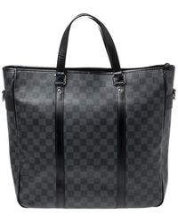 Louis Vuitton Damier Graphite Canvas Tadao Bag - Grey