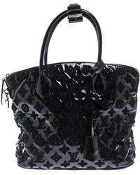 Louis Vuitton Black Limited Edition Monogram Vernis Fascination Lockit Bag