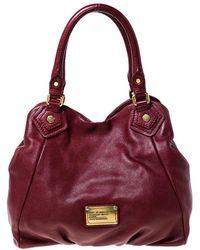 Marc By Marc Jacobs Burgundy Leather Handbag - Multicolour