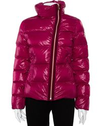 Moncler Purple Synthetic Puffer Down Ilay Jacket