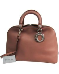 Dior Brown Leather Issimo Dome Satchel Bag
