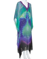 Roberto Cavalli Multicolour Silk Kaftan Dress