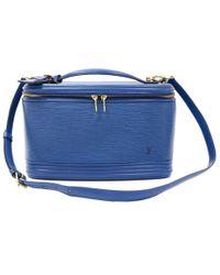 Louis Vuitton Blue Epi Leather Nice Travel Case