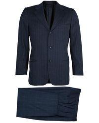 Ermenegildo Zegna Grey Striped Suit