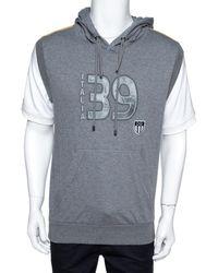 Dolce & Gabbana Gray Mélang Cotton Italia 39 Short Sleeve Hoodie