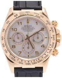 Rolex Mop 18k Yellow Gold Daytona 16518na Automatic Wristwatch 38 Mm - White