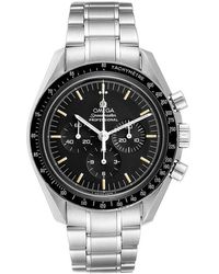 Omega Black Stainless Steel Speedmaster Moonwatch Calibre 861 145.022 Men's Wristwatch 42 Mm