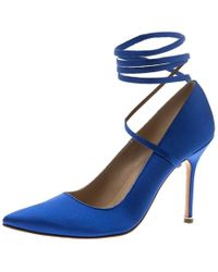 c402b9d47b0186 Manolo Blahnik - Vetements + Satin Pointed Toe Ankle Tie Pumps - Lyst