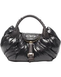Fendi Black Leather Moncler Spy Bag