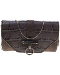 Givenchy -  beige Croc And Lizard Embossed Leather Obsedia Shoulder Bag -  Lyst 98b12c25b8