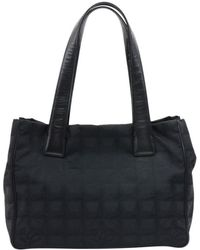 4aa3cd094103 Lyst - Chanel Nylon Tote Bag New Travel Line Mm in Black