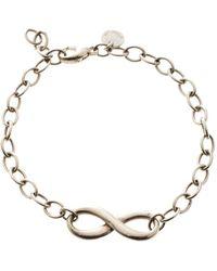 Tiffany & Co. - Infinity Silver Chain Link Bracelet - Lyst