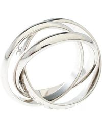 Cartier - Or Amour Et Trinity 18k White Gold 3 Band Ring - Lyst