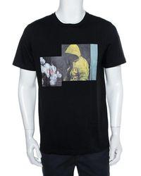 Dior Homme Black Cotton Graphic Print Crewneck T-shirt