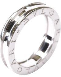 BVLGARI 18k White Gold B.zero1 Band Ring