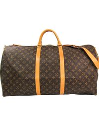 Louis Vuitton Monogram Canvas Keepall 60 Bag - Brown