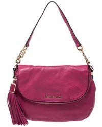 Michael Kors Michael Fuchsia Leather Bedford Crossbody Bag - Pink