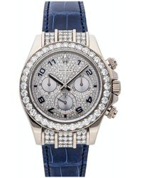 Rolex Silver Diamonds 18k White Gold Cosmograph Daytona 116599rbr Wristwatch 40 Mm - Metallic