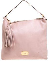 MICHAEL Michael Kors Pink Leather Tassel Hobo
