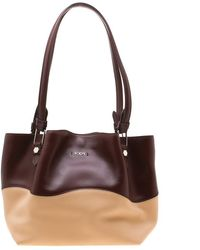 488c18a2f3 Tod's - Burgundy/beige Leather Small Flower Shopper Tote - Lyst