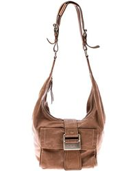Givenchy Tan Leather Buckle Hobo - Brown