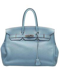 Hermès Blue Togo Leather Birkin 35 Bag
