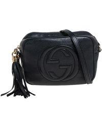 Gucci Black Leather Soho Disco Crossbody Bag
