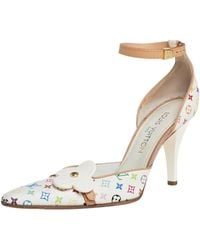 Louis Vuitton - White Canvas Multicolore Monogram Sandals - Lyst