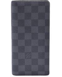 Louis Vuitton Damier Graphite Canvas Brazza Wallet - Grey