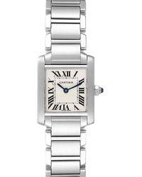 Cartier Silver Stainless Steel Tank Francaise W51008q3 Women's Wristwatch 20x25 Mm - Metallic